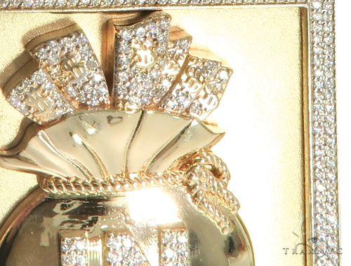 Custom Diamond Pendant - Paid In Full 63921 Metal