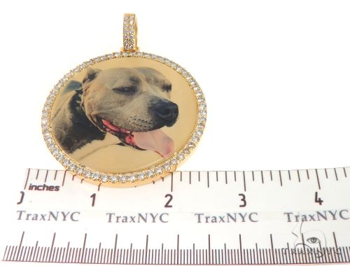 Prong Diamond Portrait Image Pendant Picture Medallion 64013 Metal
