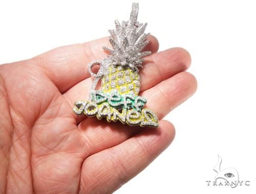 Custom Diamond Pineapple Pendant 64108 Metal