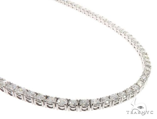 Custom Diamond Tennis Chain 24 Inches 6mm 87 Grams 64755 Diamond