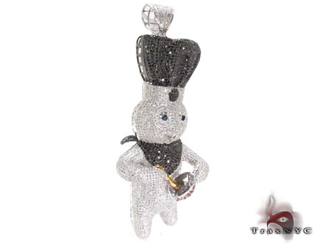 Custom Dough Boy Pendant Metal
