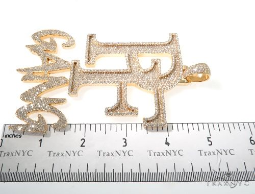 Custom Flower Set Diamond Large PF GANG Pendant Metal