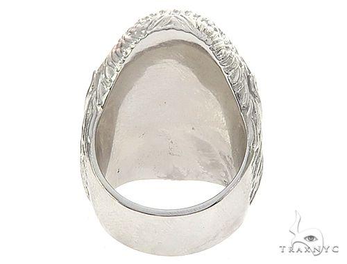 Custom 14K White Gold Diamond Gorilla Pinky Ring 65003 Stone