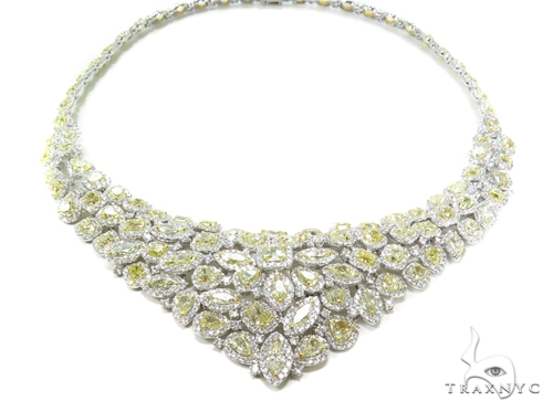 Custom Jewelry - Impression Yellow Diamond Necklace Diamond