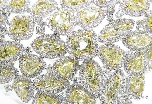 Custom Jewelry - Impression Yellow Diamond Necklace Diamond