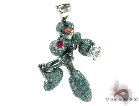 Custom Jewelry - Megaman Diamond Pendant Metal