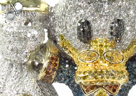 Custom Jewelry - Scrooge McDuck Blue Diamond Pendant Metal