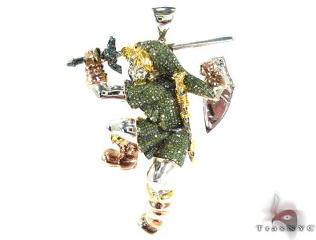 Micro Pave Diamond Custom Zelda Pendant Metal