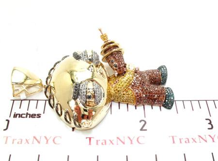 Custom Jewelry Stewie Diamond Pendant Metal
