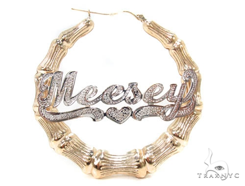 Custom Jewlery - Name Hoop Earings Metal