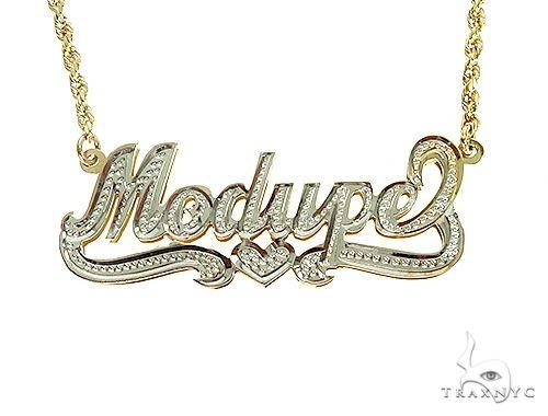 Custom Jewlery - Name Necklace 36302 Gold