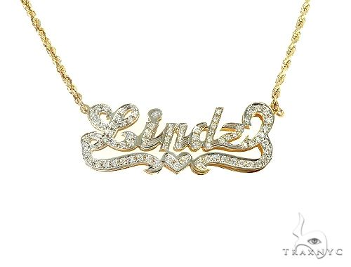 Custom Jewlery Diamond Name Necklace 66111 Diamond