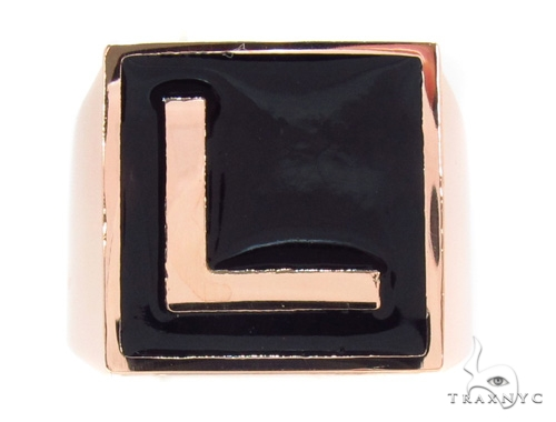 Custom L Initial Enamel Ring Metal
