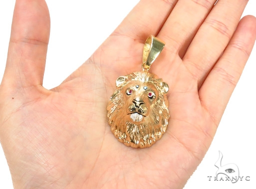 Custom Lion King Pendant with Ruby 42903 Metal