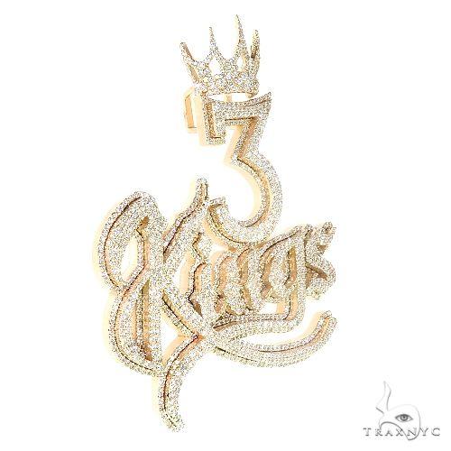 Custom Made '3 Kings' Diamond Pendant 67069 Metal