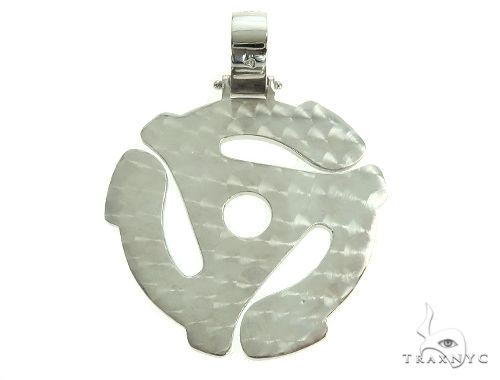 Custom Made 45 RPM Diamond Pendant 66069 Metal