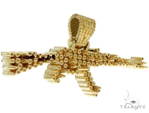 Custom Made AK-47 Assault Rifle Pendant 61369 Metal