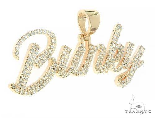 Custom Made BUNKY Diamond Name Pendant 65799 Stone
