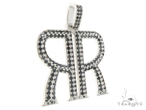Custom Made Back to Back Mirror 'R' Pendant 65529 Metal