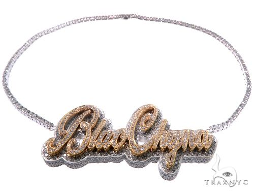 Custom Made BlacChyna Diamond Necklace Stone