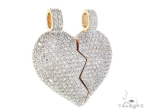 Custom Made Broken Heart Diamond Pendant 65655 Metal