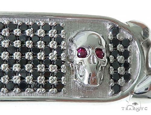 Custom Made Cuban ID Skull Bracelet 65790 Gold