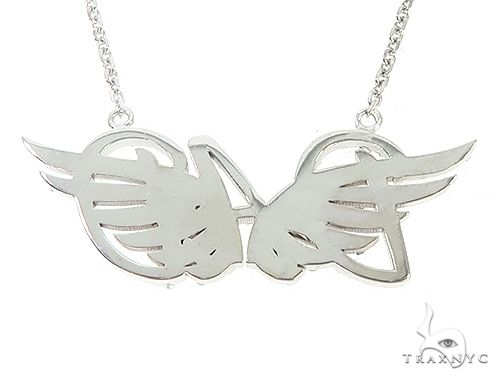 Custom Made DAD Pendant With Angel Wings 65653 Metal