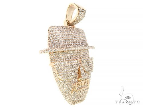 Custom Made Diamond Face Pendant 65669 Metal