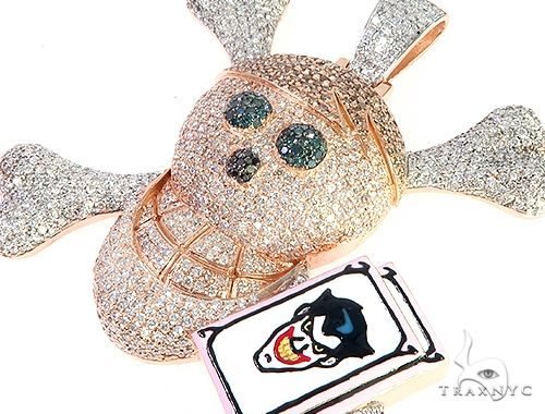 Custom Made Diamond Skull Pendant 65654 Metal