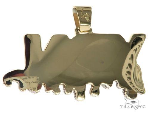 Custom Made Diamond YRN Pendant 63911 Metal