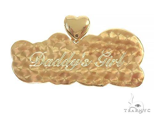 Custom Made Divine Diamond Name Pendanta 66068 Style