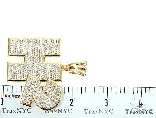 Custom Made H2 Diamond Pendant 65858 Metal