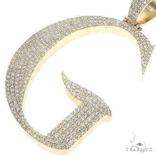 Custom Made Initial 'G' Diamond Pendant 67183 Style