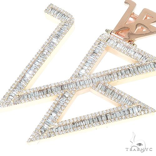 Custom Made Logo Diamond Pendant 66823 Metal