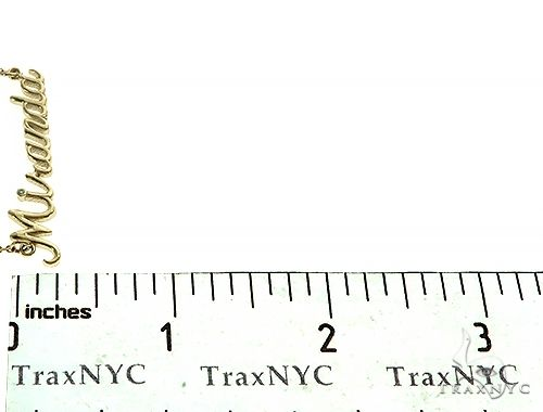 Custom Made 'Miranda' Name Necklace 66136 Gold
