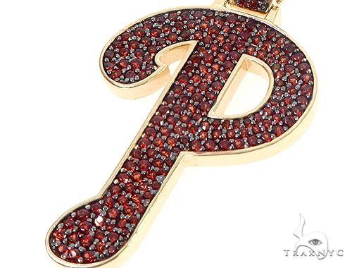 Custom Made P Garnet Pendant 65656 Metal