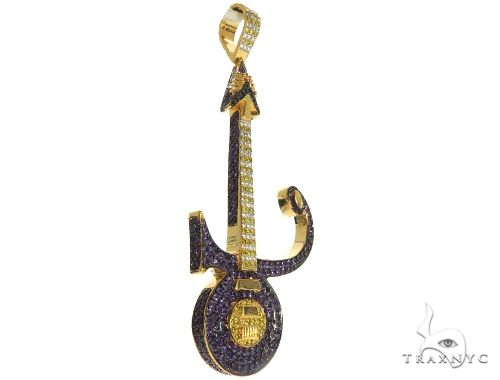 Custom Made Prince Guitar Pendant 63456 Metal