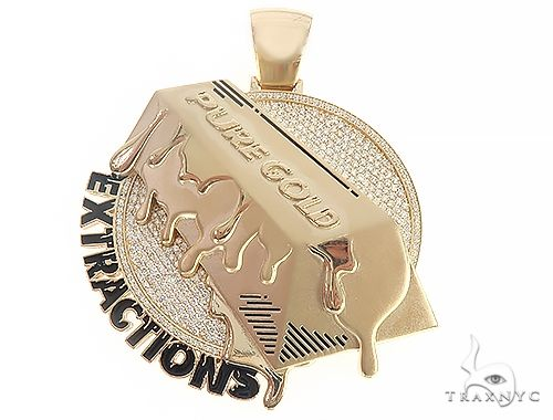 Custom Made Pure Gold Extractions Pendant 65421 Hip Hop Pendants