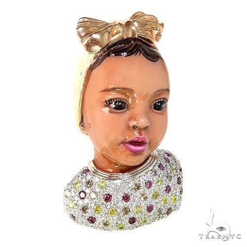 Custom Made Safire Baby Pendant 66846 Metal