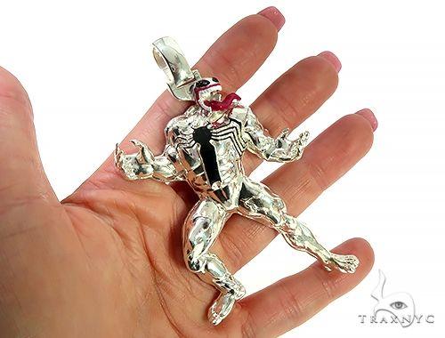 Custom Made Silver Venom Pendant 65789 Metal