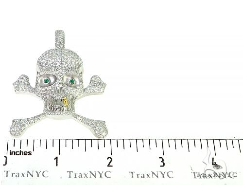 Custom Made Diamond Skull Pendant 66258 Metal