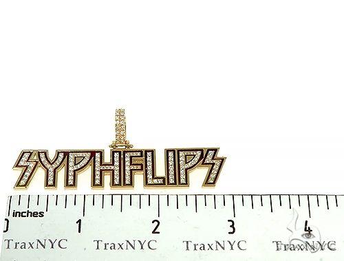 Custom Made 'Syphflips' Diamond Pendant 66137 Metal
