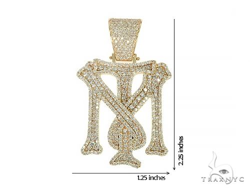 Custom Made 'TM' Large Diamond Pendant 66084 Metal