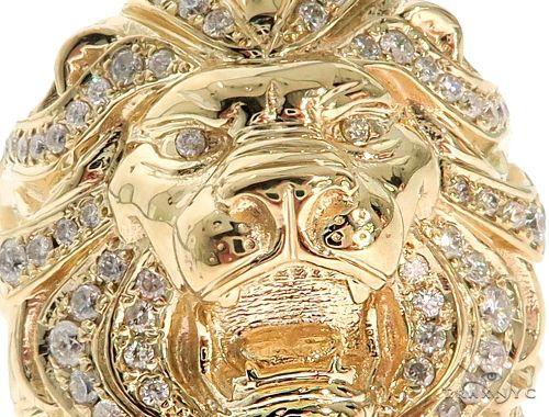 Custom Made TraxNYC Lion Head Ring 61771 Stone