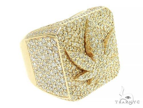 Custom Made Weed Leaf Pinky Ring 65988 Hip Hop Rings