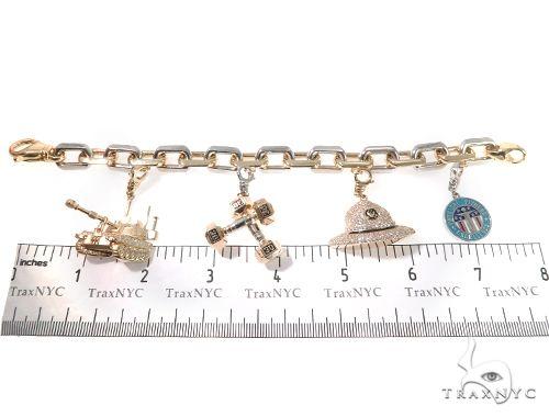 Custom Military Charms Diamond Bracelet Diamond