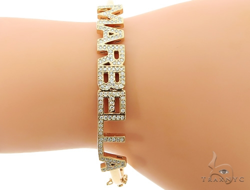 Custom Name Marbella Diamond Bracelet 45614 Diamond