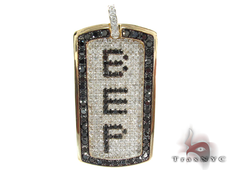 Custom Pave Diamond Dog Tag 2 Style