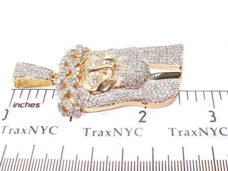 Custom Prong Diamond Jesus Pendant Style