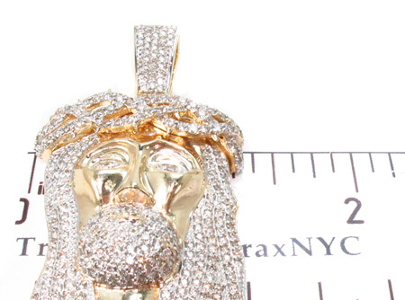 Clean cut VS Prong Diamond Jesus Pendant Style